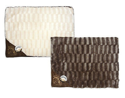 """Sweet Dreams"" Textured Pet Cushion With Faux Leather Motif by World of Pets"