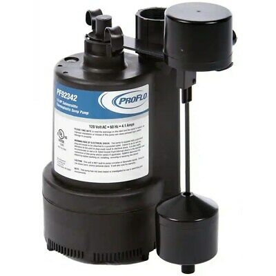 ProFlo PF92342 - 1/3 HP Thermoplastic Sump Pump w/ Vertical Float Switch