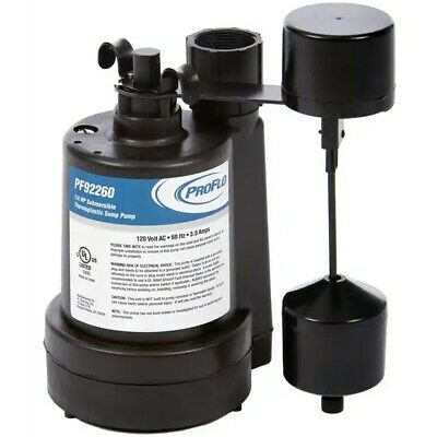 ProFlo PF92260 - 1/4 HP Thermoplastic Submersible Sump Pump