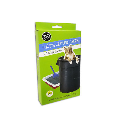 Litter Tray Liners Plastic Pack of 24 Cat Litter Liners 30x70cm by World of Pets