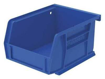 "Blue Hang and Stack Bin, 5-3/8""L x 4-1/8""W x 3""H AKRO-MILS 30210BLUE"