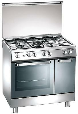 Gas cooker 80x50 cm, 5 burners, gas oven - Tecnogas Ark� D824XS UK