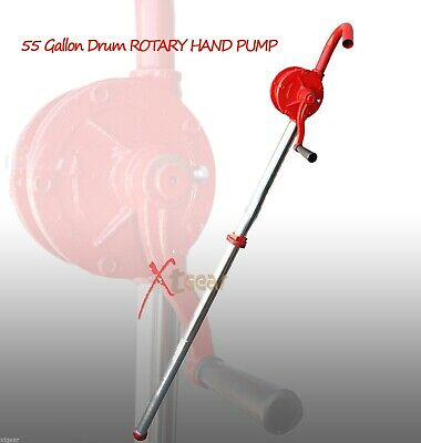 New 55 Gallon Drum ROTARY HAND PUMP Oil Fuel Barrel Heavy Duty