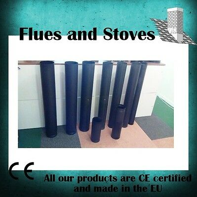 "Stove Flue Pipe Black 4"", 5"", 6"" Vitreous Slight Seconds stovepipes"