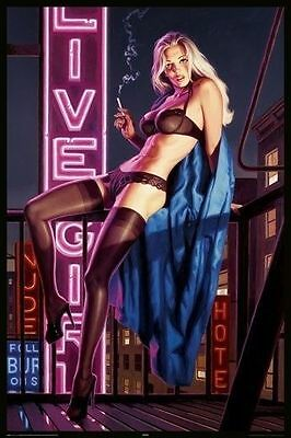 (LAMINATED) HILDEBRANDT PINUP LIVE GIRL POSTER (61x91cm)  PICTURE PRINT NEW ART
