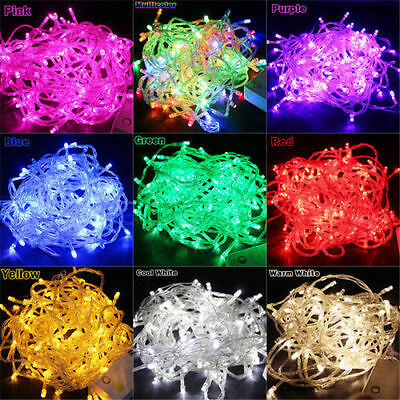 10M/20M 100/ 200LED Bulbs Valentine's Day Fairy Party String Lights Waterproof