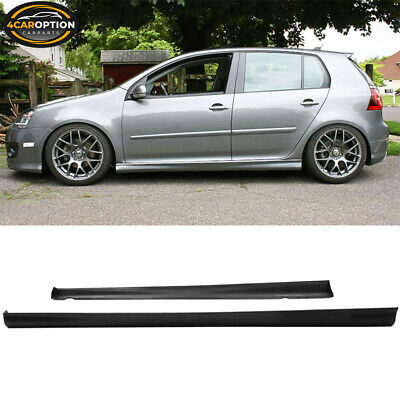 Fits 06-09 VW Golf GTI Mkv Mk5 Mk6 Side Skirts Lip V-Style Urethane PU