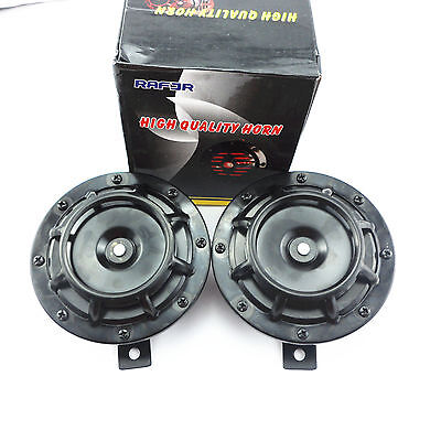 Daul Twin Black Mount Grille 118dB Super Tone Loud Compact Horn Speaker For Benz