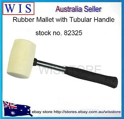 16oz White Rubber Mallet with Steel Handle,Non-marking White Rubber Head-82325