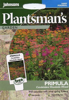 Johnsons Pictorial Pack - Flower - Primula Candelabra Woodside Mixed - 50 Seeds
