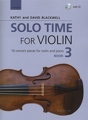 Solo Time for Violin 3 Music Book & Play-Along CD Kathy & David Blackwell Fiddle