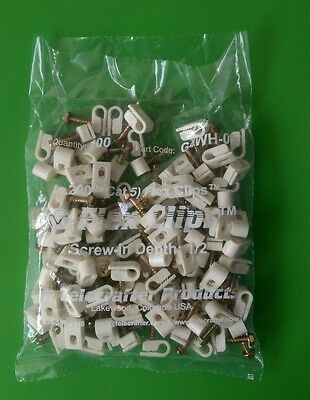 (Lot of 100) Telecrafter Cat 5 Flex Clips G4WH-05 (WHITE)