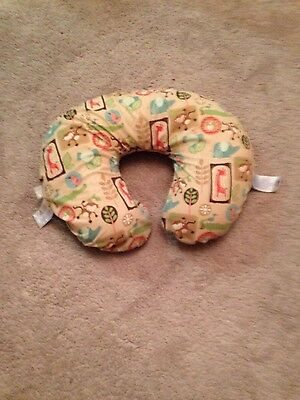 Boppy pillow, protective cover, and jungle monkey cover.