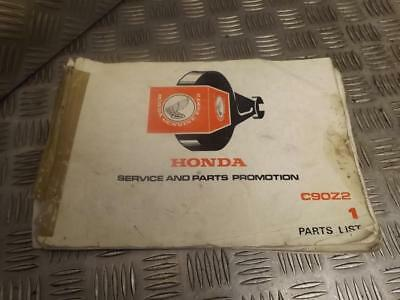 Honda C90Z2 C90 Z2 Genuine Parts List Book Manual