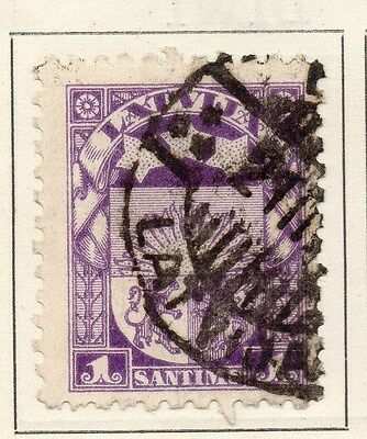 Latvia 1921-22 Early Issue Fine Used 1s. 120861