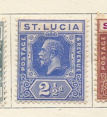 St Lucia 1921 Early Issue Fine Mint Hinged 2.5d. 120975
