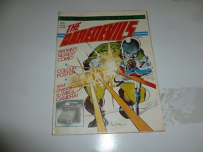 THE DAREDEVILS Comic -  No 2 - Date 1981 - UK Paper Comic