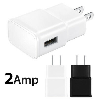 2.0A USB Power Adapter AC Wall Charger US Plug FOR iPhone 5 5S iPod Samsung Lot