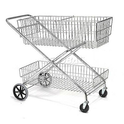 Best Value Wire Utility Basket Mail Cart 200 Lb. Capacity