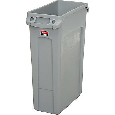 23 Gallon Rubbermaid Slim Jim Recycling Container - Gray