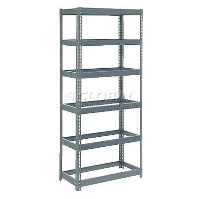 """Extra Heavy Duty Shelving 36""""W x 12""""D x 72""""H With 6 Shelves, No Deck"""