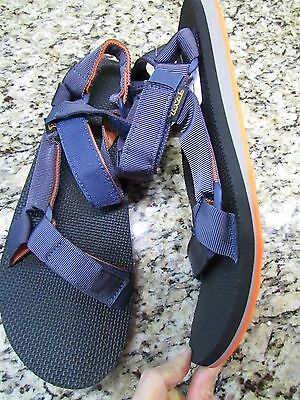 98794f765387 New Teva Originals Universal Strappy Sandals Mens 13 Blue orange Free Ship