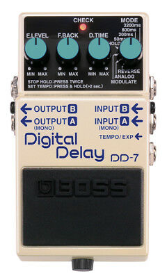 Boss DD-7 Digital Delay Pedal with Tap Tempo