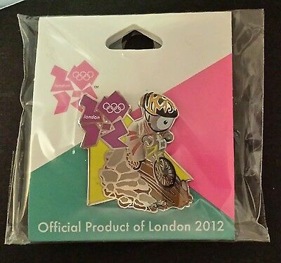 Mountain Bike Olympic Pin~2012~Cycling~Mascot~Wenlock~Official Product of London