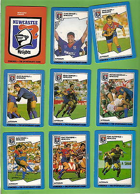 1989 Newcastle Knights  Stimorol Rugby League Cards