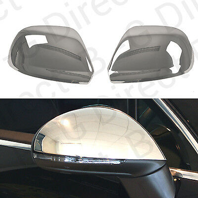 Stainless Steel Silver Door Wing Mirror Cap Covers VW Touareg 2008 - 2011
