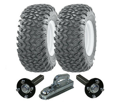 ATV trailer kit - Quad trailer - wheels + hub / stub + hitch, heavy duty 750kg