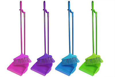 """""""Brights"""" Long Handle Dustpan and Brush for Sweeping & Cleaning"""