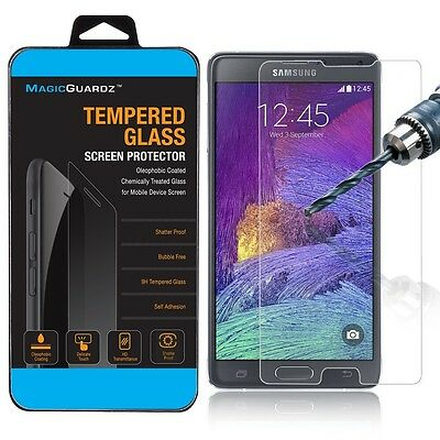 100x Wholesale Lot 100 Tempered Glass Screen Protector for Samsung Galaxy Note 4