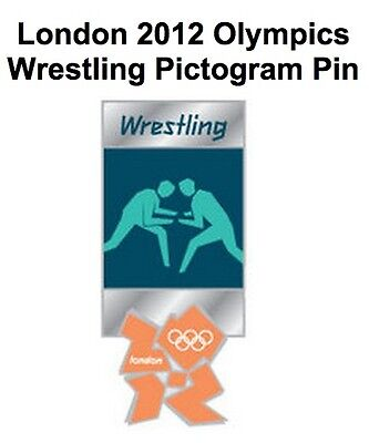 Wrestling Olympic Pin Badge~2012~Pictogram~New~Mounted on Card & Sealed