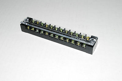 10pcs  15A Dual rw 12 Positions Screw Terminal Electric Barrier Strip Block A225