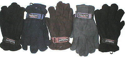 Wholesale Lot 24 Pair Mens Male Polar Fleece Winter Gloves Resell - Charity Gift