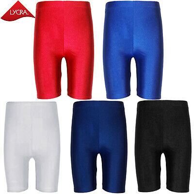 Kids Children Boys Girls Unisex Lycra Pe Shorts School Cycling Sports Gym Dance