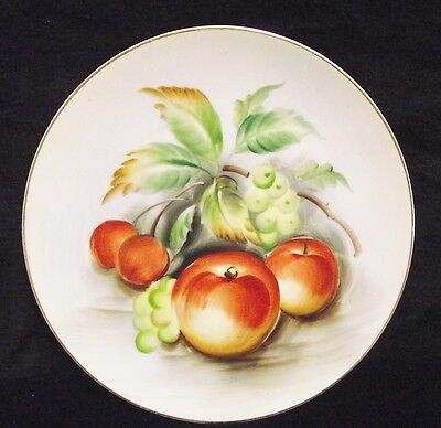 Vintage Lefton China Hand Painted Fruits Wall Plate