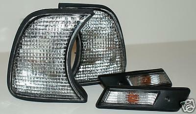1989-1995 BMW 5-Series E34 4DR 5DR Gray Corner Lights Larmps Turn Signals PAIR