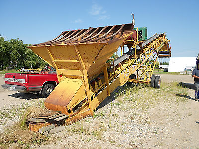 "24"" x 50' Falls Gravel Conveyor with Screen and Feed Hopper Portable NICE"