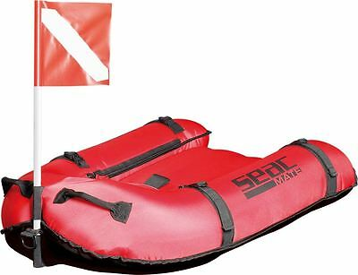 SEAC - Mate, Spearfishing Float Ride ON Inflatable Board with Flag