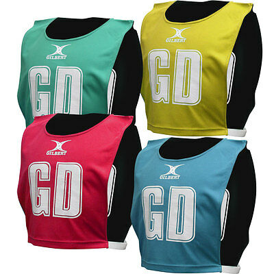 NEW Gilbert Reversible Netball Bibs - Pack of 7  M L XL Sizes Cheap Netball Tops