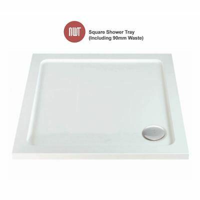 Square Shower Trays - 700mm to 1000mm (Includes 90mm Chrome Waste)