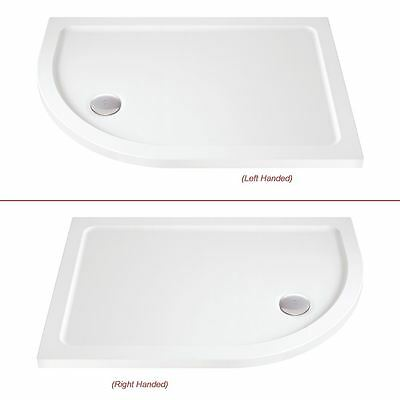 Offset Quadrant Shower Trays - 900mm to 1400mm Wide (Includes 90mm Chrome Waste)