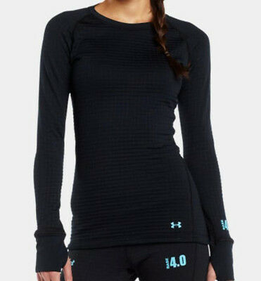 Under Armour Women's Base 4.0 Crew Long Sleeve Base Layer (Black) 1239714-001