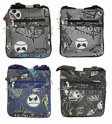 "Nightmare Before Christmas Canvas Satchel! Jack Purse Hand Bag Tote 10"" Nwt"
