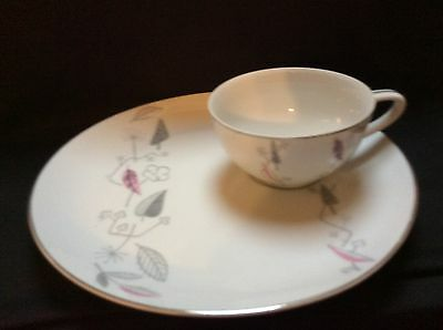 "(1) Laurel China ""Gaiety"" Made in Japan Tea Cup & Snack Set"