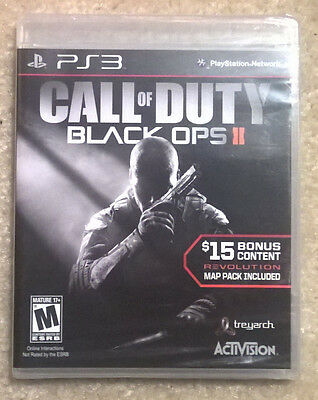 BRAND NEW Call of Duty: Black Ops II with Revolution Map Pack PlayStation 3