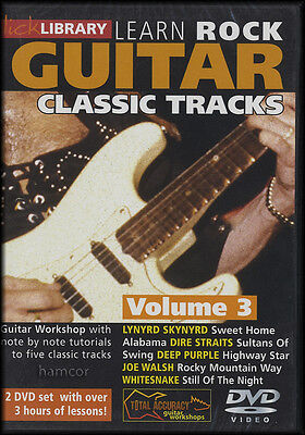Learn Rock Guitar Classic Tracks Volume 3 Lick Library DVD Set