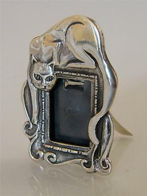 Miniature Silver Cat Picture Frame